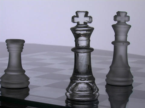A chess player wins the match Stock Video Footage