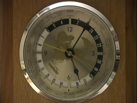 Hands spin on a clock Stock Video Footage