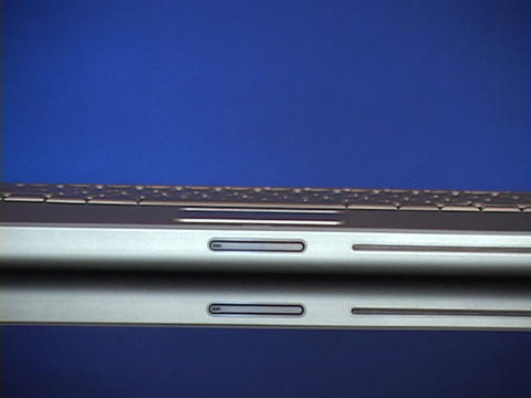 An Apple Powerbook opens Stock Video Footage