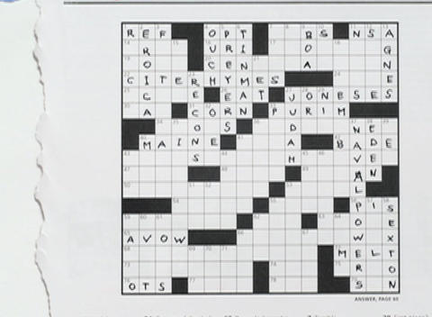 Words fill in a crossword puzzle Footage