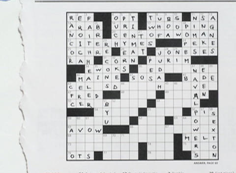 Words fill in a crossword puzzle Stock Video Footage