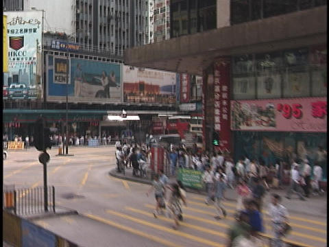 Traffic moves through downtown Stock Video Footage