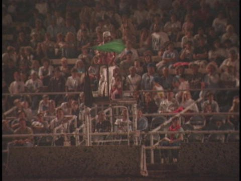 The green flag signals the beginning of the demolition derby Footage