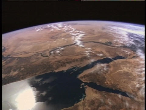 Continents and oceans go by as the Earth rotates Stock Video Footage