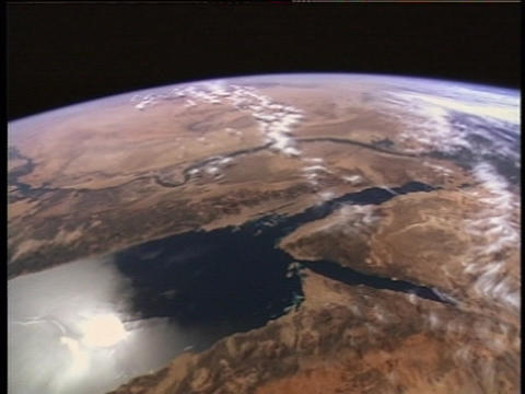 Continents and oceans go by as the Earth rotates Footage