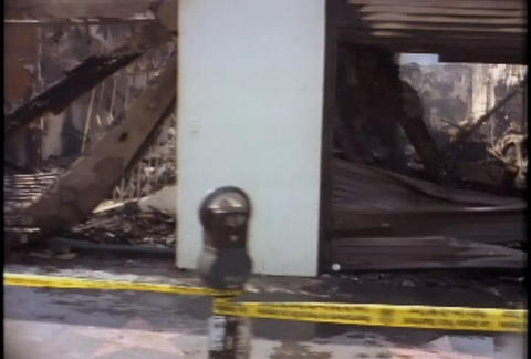 Damage and destruction in Hollywood during the LA Stock Video Footage