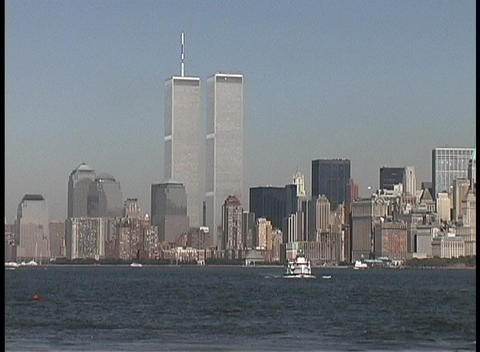 The World Trade Center Towers adorn the city of New York Footage