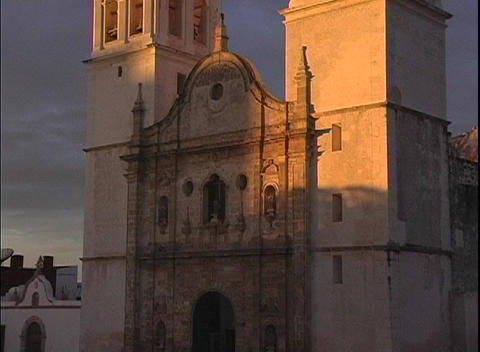 A spectacular shot of the facade of the Cathedral in... Stock Video Footage