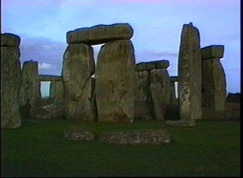 Close view of the Stonehenge monument Footage