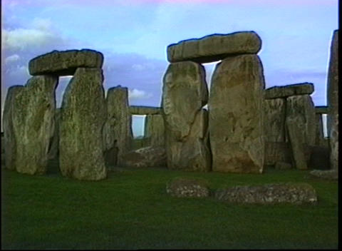Close view of the Stonehenge monument Stock Video Footage