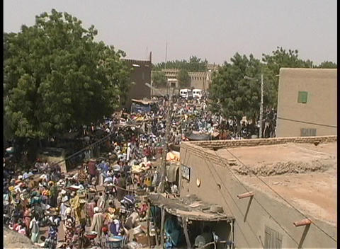 Market day in Djenne, Mali a small village in Africa Footage