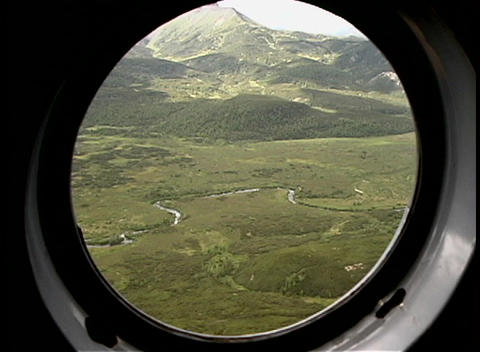 An Ariel view of mountains and valleys near Kamchatka,... Stock Video Footage