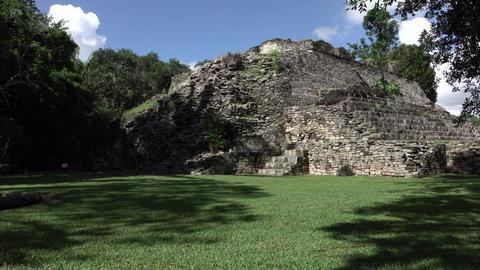 Costa Maya Mexico Kohunlich Mayan Ruins Temple building 4K Footage
