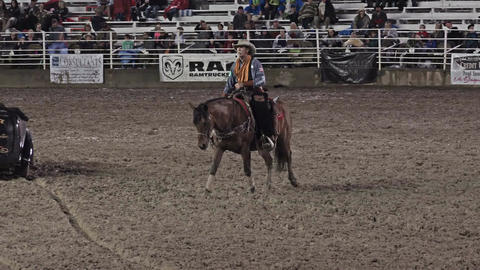 Cowboy poet rodeo performance 4K 290 Footage