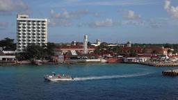 Cozumel Mexico cruise ship tourist marina tour boat 4K Footage