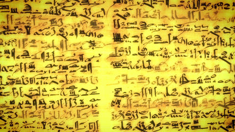 Unknown Ancient script, old scroll with African letters Footage