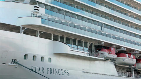 Cruise ship Star Princess in Seattle Port HD 7971 Footage
