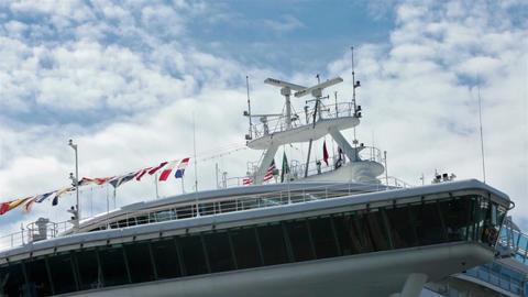 Cruise ship navigation bridge clouds fast timelapse HD 7973 Footage
