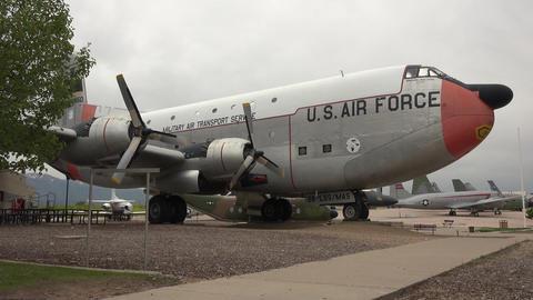 Douglas C-124 Globemaster II Hill AFB Utah 4K Footage