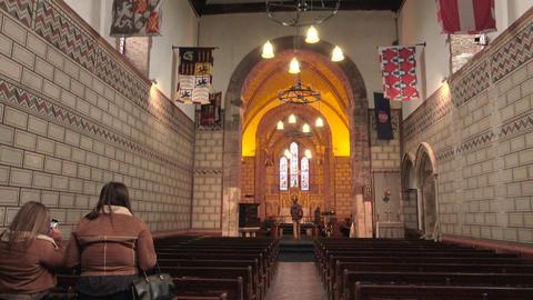 Dover Castle England St Mary in Castro Church altar 4K Footage