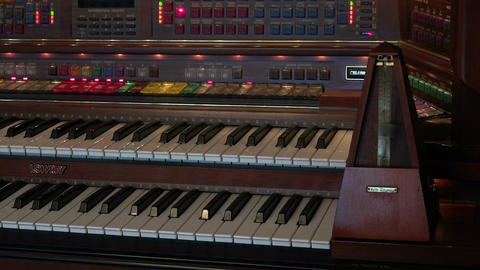 Electronic wood organ keys and metronome HD 170 Footage