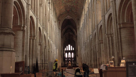 Ely England inside historic Cathedral church 4K Live Action