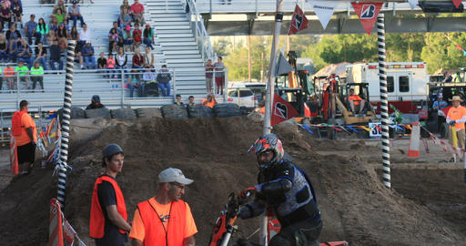 Extreme motocross motorcycle race finish line DCI 4K Footage