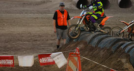 Extreme motocross dirt motorcycle race young boys DCI 4K Footage