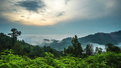 Sungai Lembing Sunrise time lapse at beautiful mountain Footage