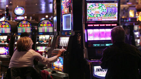 Gambling casino slot machine dark cruise ship HD 7727 Footage