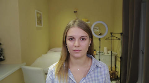 Girl before make up. Portrait of a beautiful girl Live Action