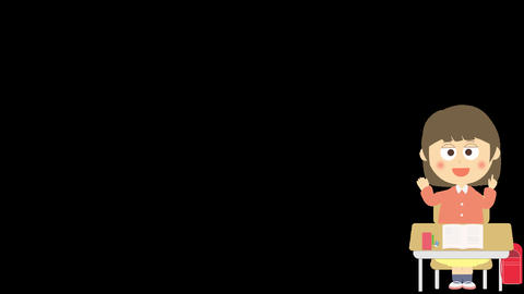 Character Animation of elementally school girl speech Animation
