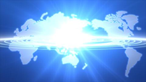 輝く世界地図 中心が日本バージョン CG動画