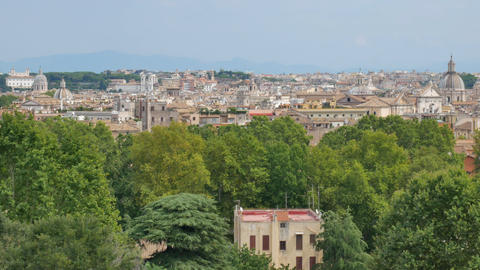 Old architecture and the sights in Rome in the sunny day Live Action