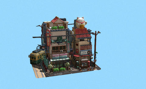 Littlest Tokyo small toy city 3D Model