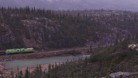 White Pass and Yukon Route Railroad train ride and tourist attraction Live Action