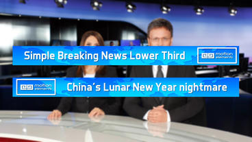 Breaking News Lower Third Simple After Effects Template