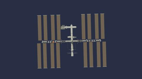 Low Poly ISS Model 3D Model