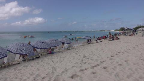 Grand Cayman Island Caribbean Ocean sandy beach paradise 4K Footage