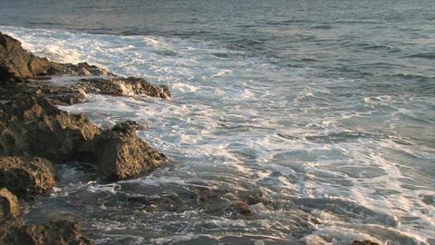 Hawaiian rocky ocean shore M HD Footage