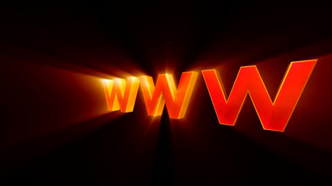 Creation and promotion of the website ( www - internet symbol) Animation
