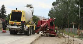 Highway road construction equipment DCI 4K Footage