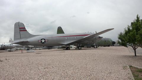 Hill AFB Utah Douglas C-54G Skymaster 4K Footage
