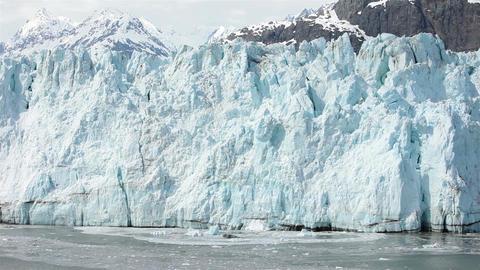 Icebergs in ocean below Margerie Glacier Alaska HD 1415 Footage