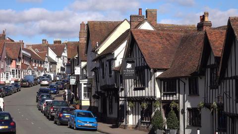 Lavenham England historic medieval village 4K Footage