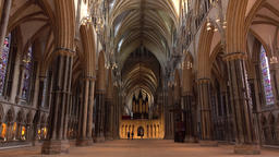 Lincoln Cathedral inside beautiful architecture England 4K 画像