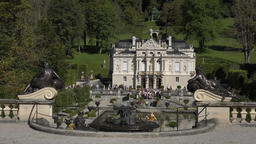 Linderhof Palace water fountain garden Bavaria Germany HD 023 Footage