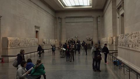 London England British Museum Greek Roman history 4K Footage