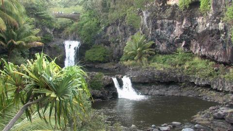 Maui Seven Pools falls bridge pools Hawaii HD Live Action
