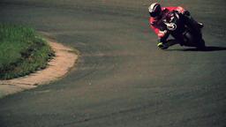 Motorcycle racing HD slow motion video. Moto riders turn circuit road track Footage